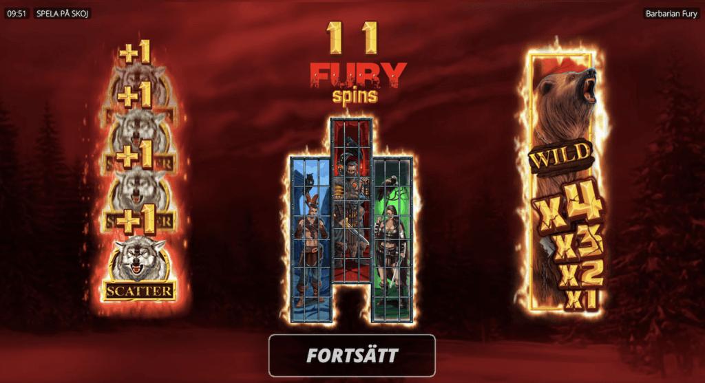 Barbarian Fury Free Spins