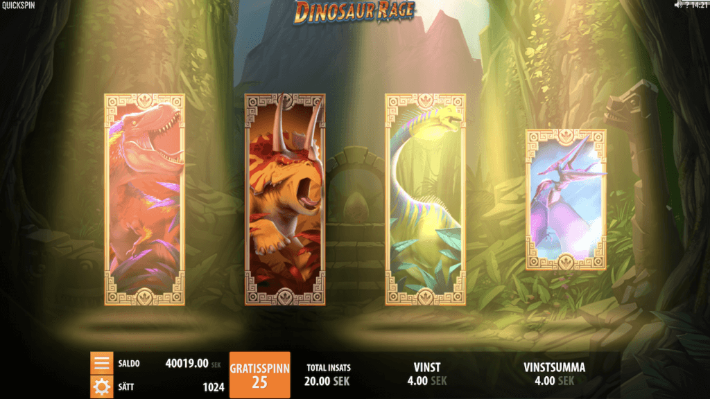 Dinosaur Rage Free Spins