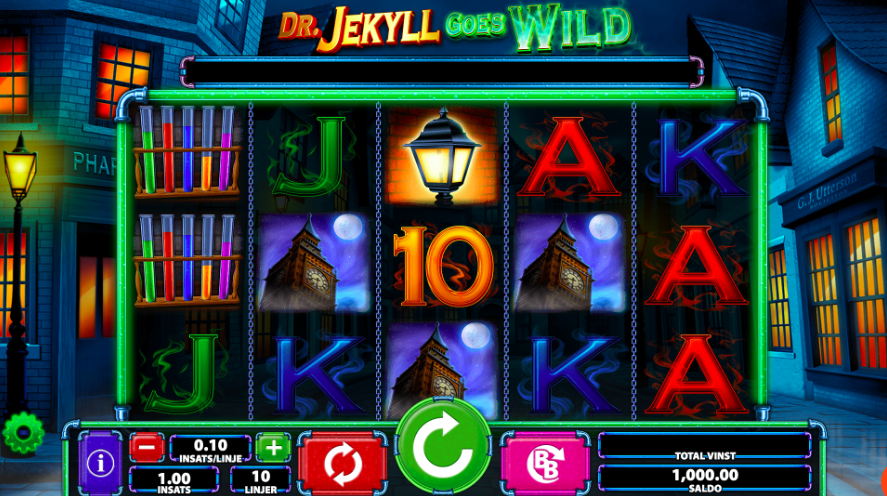 Dr Jekyll Goes Wild spelplan.