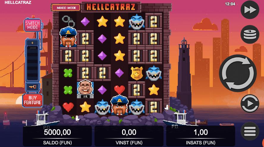 Hellcatraz spelplan.