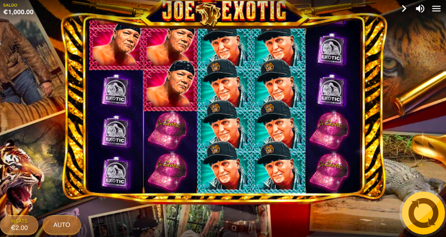 Joe Exotic Spelplan.