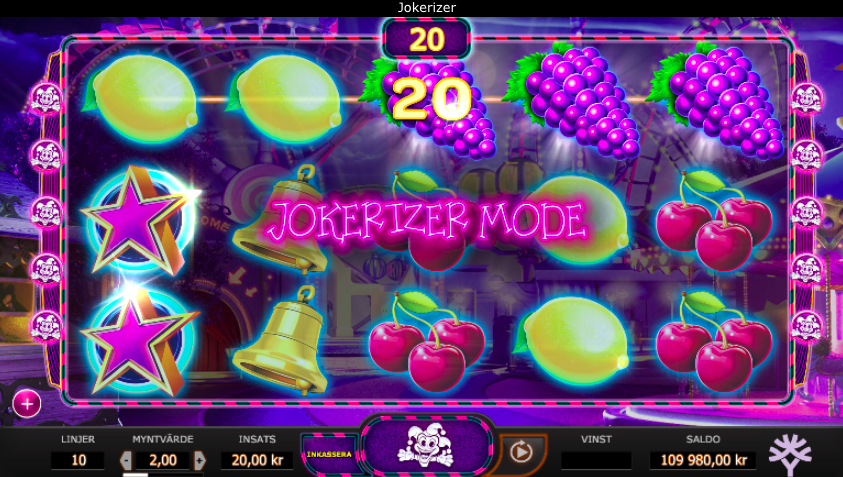 Jokerizer spelplan.