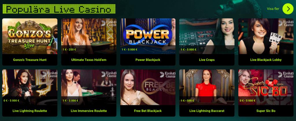 Karma live casino