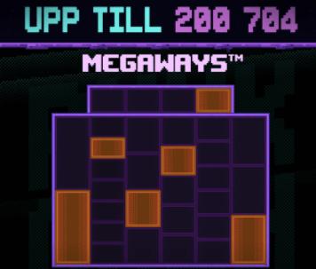 NFT Megaways med 200 704 vinstvägar.