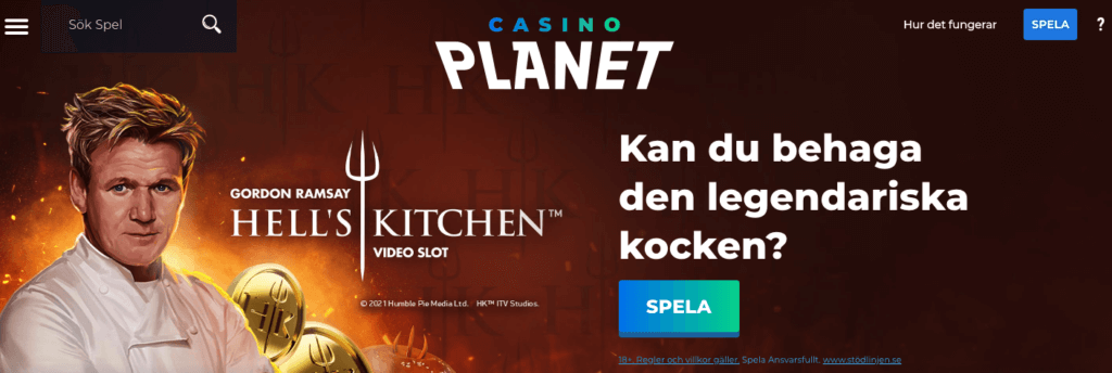 Casino Planet Gordon Ramsay slot