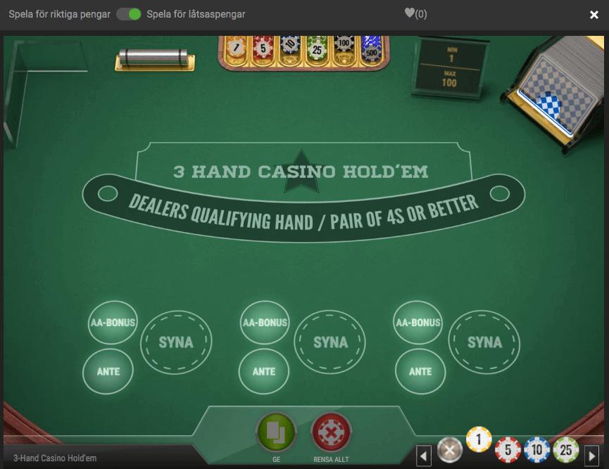 Spela bordsspel gratis på casino