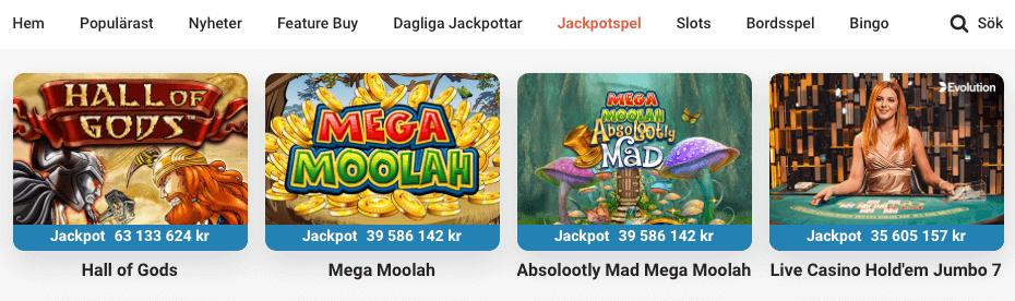 LeoVegas jackpottspel