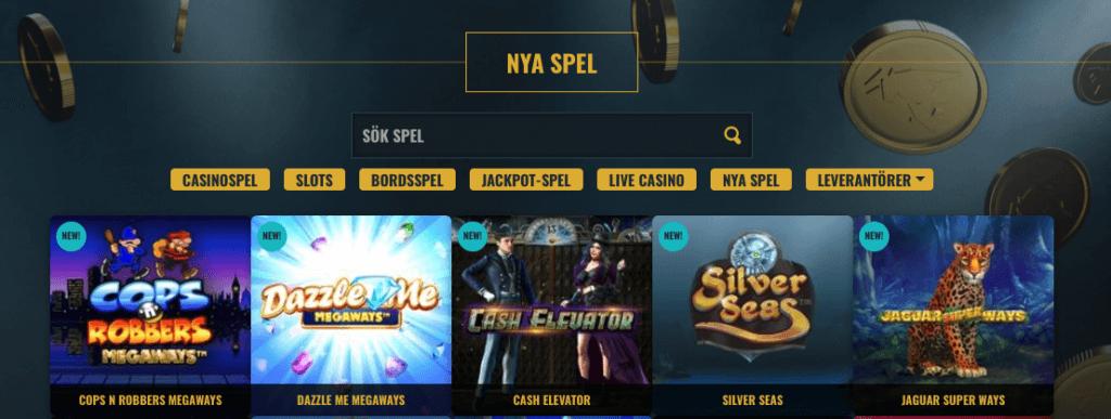 Nya Slots hos No Account Casino