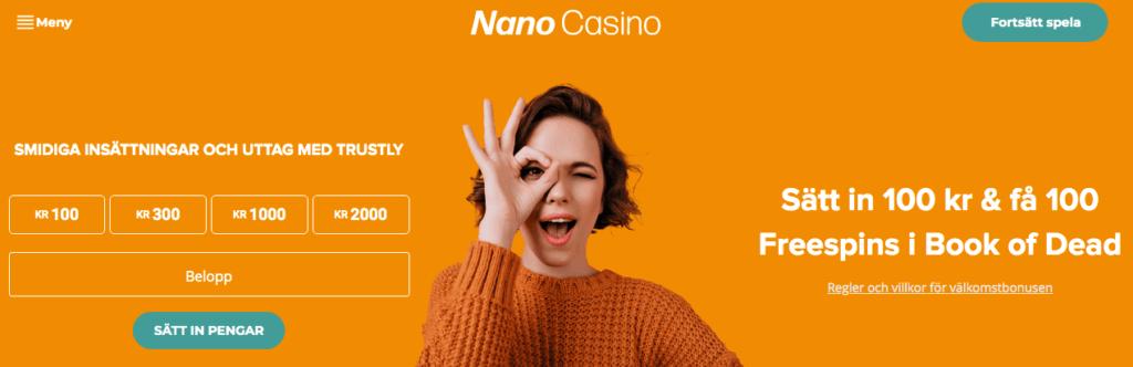 Nano Casino free spins