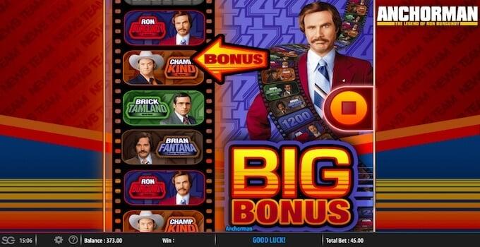Anchorman Slot Bonus