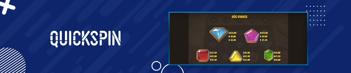 Arcane Gems Slot Symboler