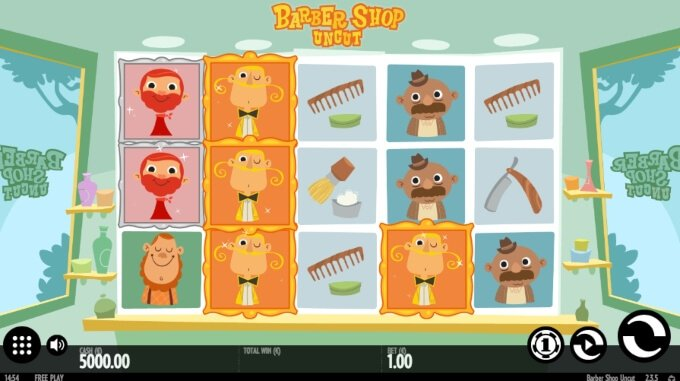 Barber Shop Uncut Slot Bonus Game