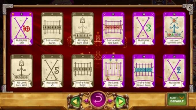 Baron Samedi Slot Cards