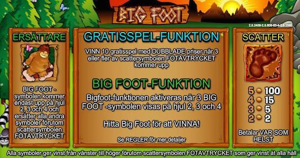 Big Foot Slot Free Spins