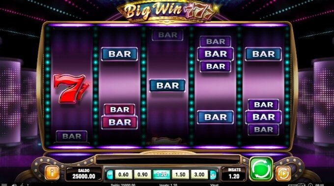 Big Win 777 Slot Bonus Game