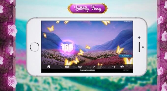 Butterfly Staxx 2 Butterfly Frenzy bonusspel