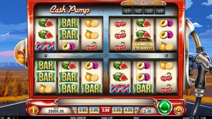 Cash Pump Slot Bonus Game