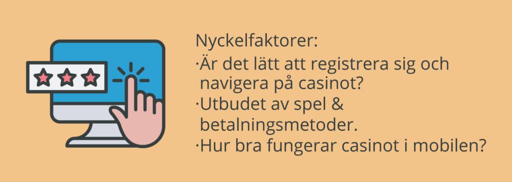 Hur påverkar användbarheten vårt casinobetyg?