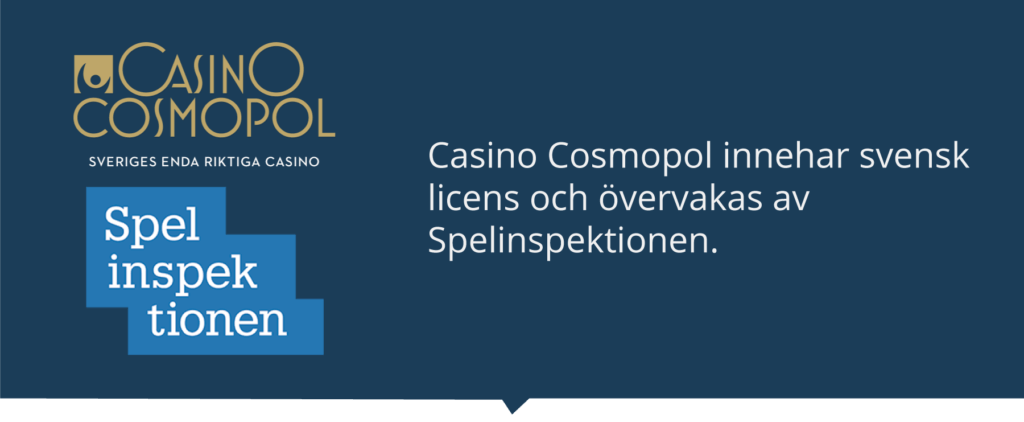 Casino Cosmopol med svensk licens