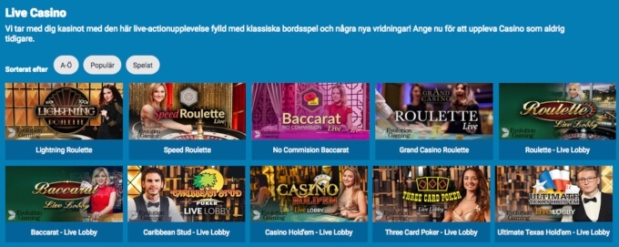 Casonic Casino Live