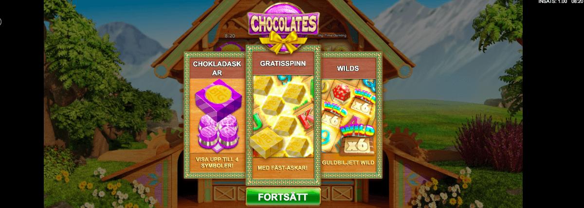 Chocoloates Bonus Spel