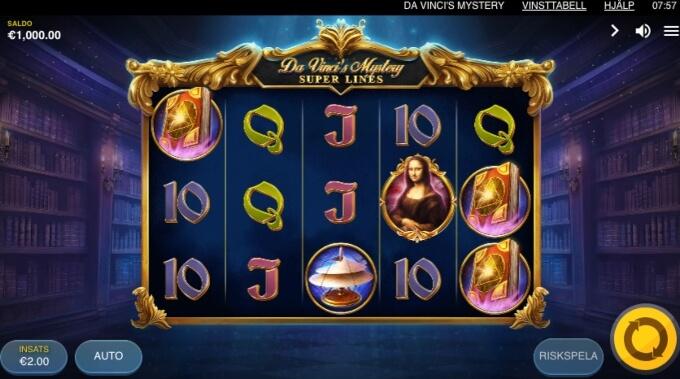 Da Vincis Mystery Slot Bonus Game
