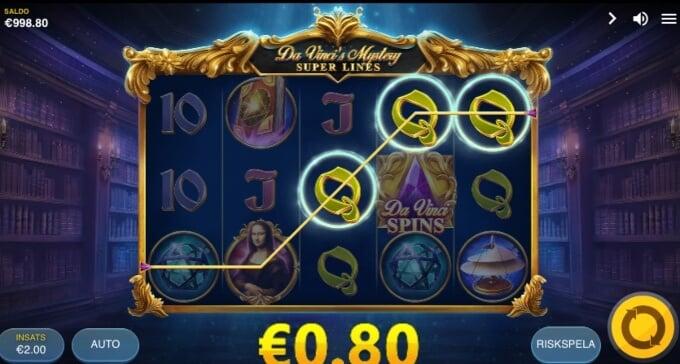 Da Vincis Mystery Slot Bonus Vinst
