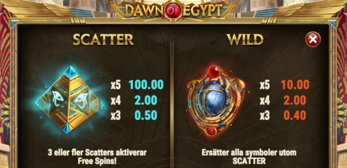 Dawn of Egypt Slot Bonus Scatter
