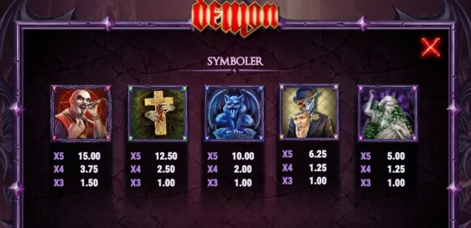 Demon Slot Bonus Symboler
