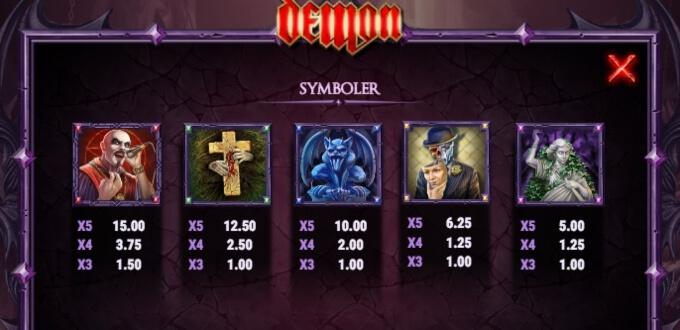 Demon Slot Bonus Symboler