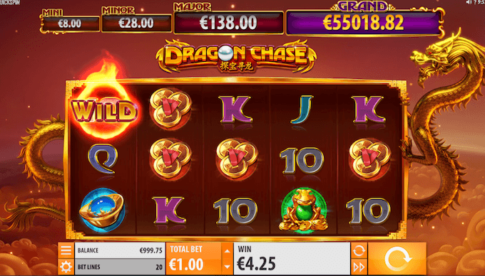 Dragon Chase spelplan