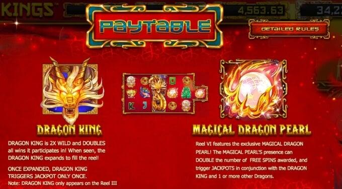 Dragon Kings Slot Bonus