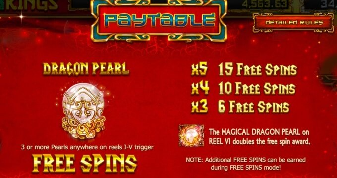 Dragon Kings Slot Free Spins