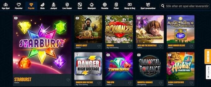 Dream Vegas Casino spelutbud