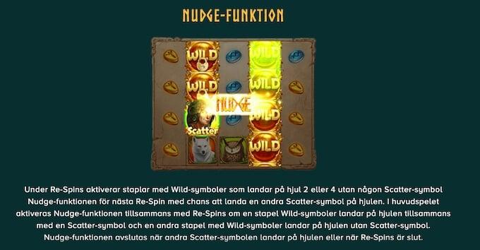 Druids Dream slot Nudge funktion