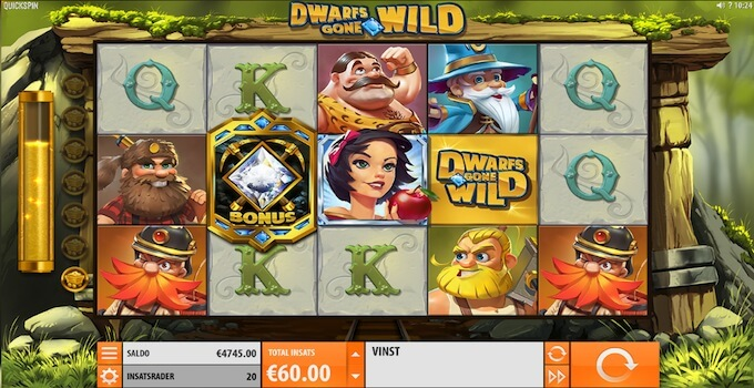 Dwarfs Gone Wild slot Bonus