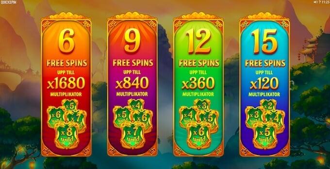 Eastern Emeralds Free Spins