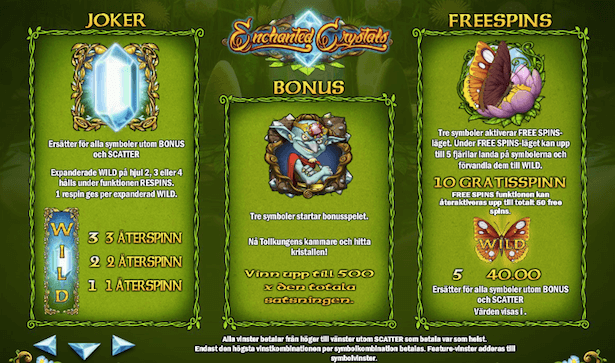Enchanted Crystals Bonus