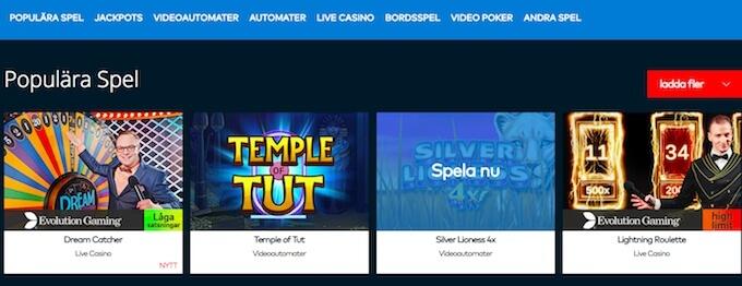 Fun Casino spelutbud