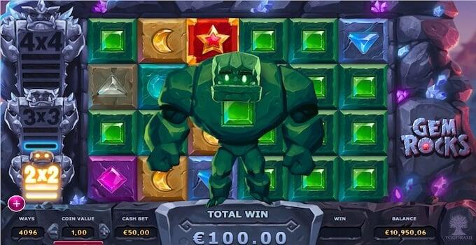 Gem Rocks Slot Bonus