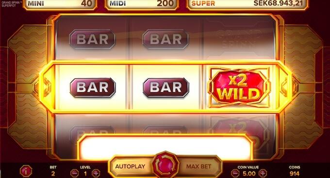 Grand Spinn slot Bar
