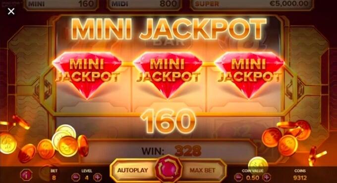 Grand Spinn mini jackpot