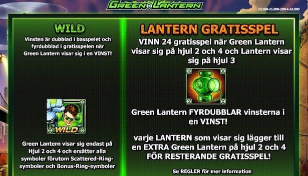 Green Lantern Slot Free Spins