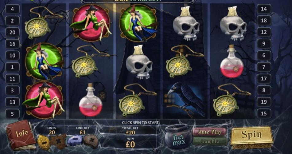 Halloween Fortune spelplan.