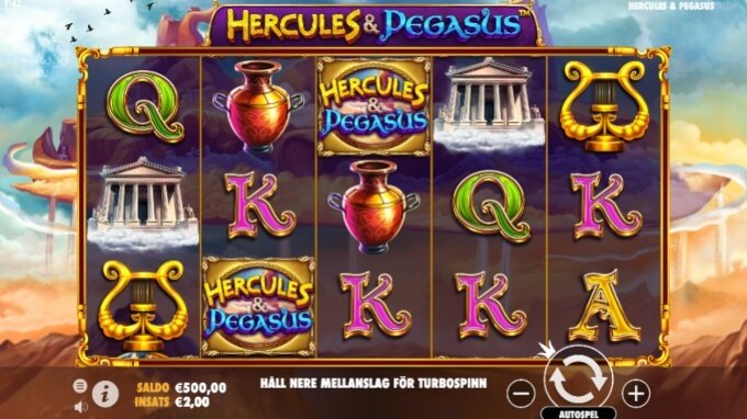 Hercules and Pegasus Slot Bonus Game