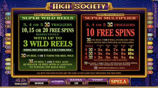 High Society Bonus
