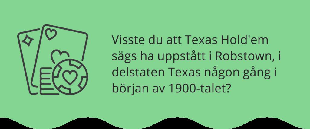 Texas Hold'Em ursprung