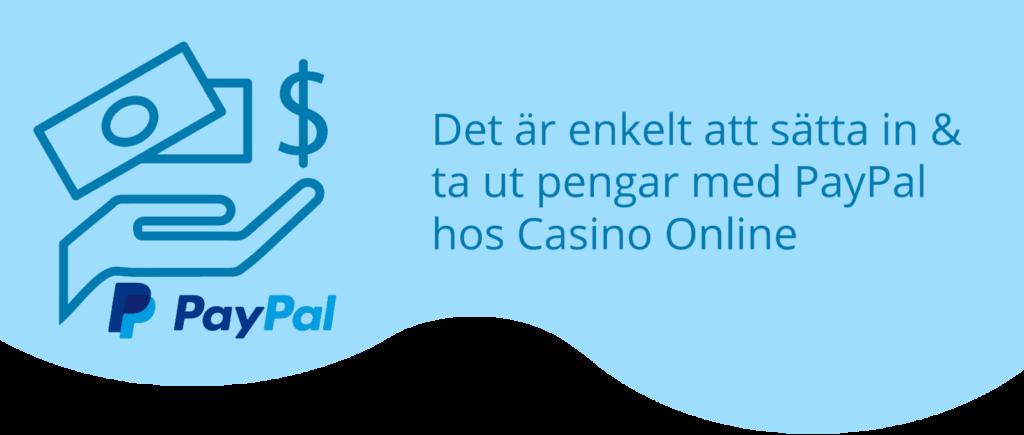 Paypal insättning casino