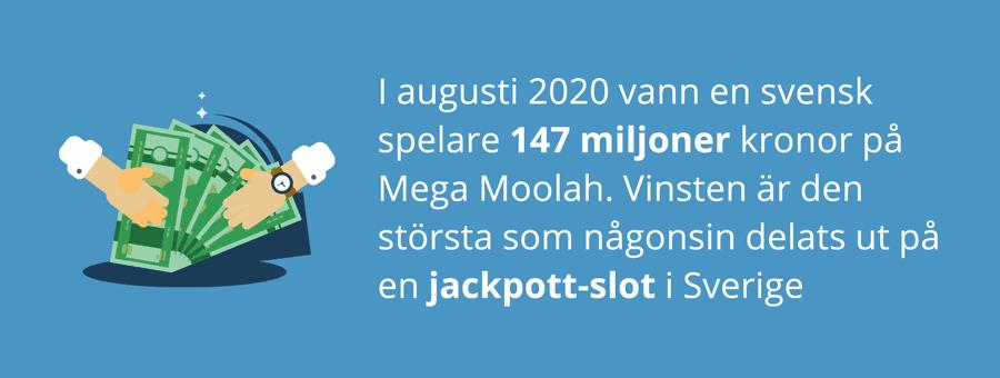 Mega Moolah jackpot i Sverige