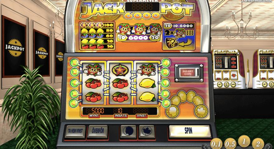 Jackpot 6000 har en hög RTP på hela 98.9%.
